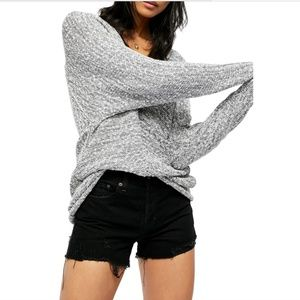 NWT FREE PEOPLE BRIGHT LIGHTS V- NECK SWEATER - S